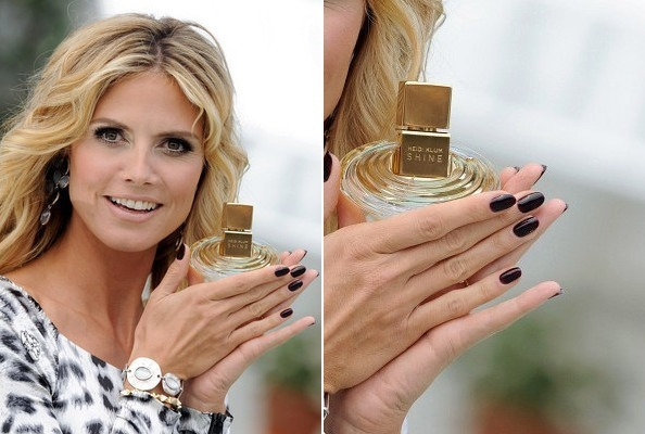 Heidi Klum in Almost Basic Black