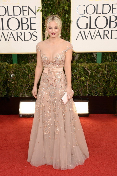 Kaley Cuoco at the 2013 Golden Globes