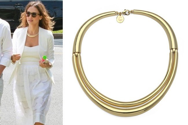Found: Jessica Alba's Chic Collar Necklace
