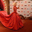Stunning Photo of Rita Ora in a Red Ballgown at the MTV EMAs