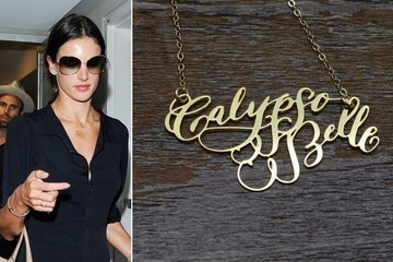 Found: Alessandra Ambrosio's Calligraphy Necklace