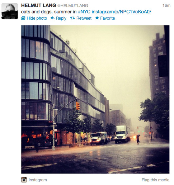 Watch Fashion People Freak Out Over Bad Weather - Summer Storm Edition