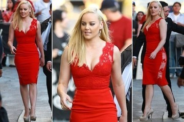 Abbie Cornish Goes Glam on 'Jimmy Kimmel Live'