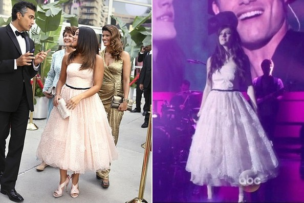 Seeing Double: Gina Rodriguez and Aubrey Peeples Don the Same Strapless Midi Dress