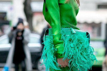 Street Style Spotlight: Fluffy Handbags