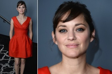 Marion Cotillard's Red Retro Finesse