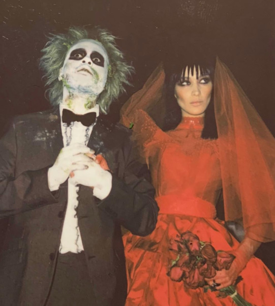 Bella Hadid and The Weeknd as Lydia and Beetlejuice