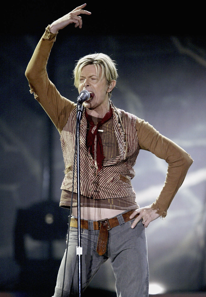David Bowie in Concert in late 2003