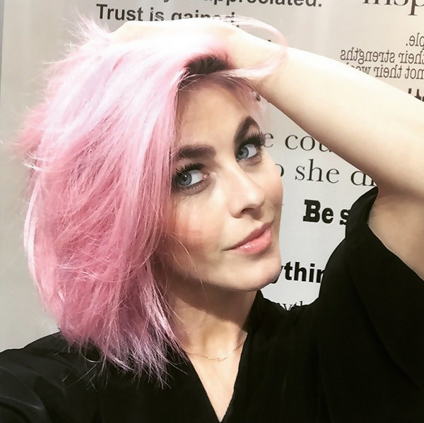 Do You Prefer Julianne Hough Pink or Blonde?