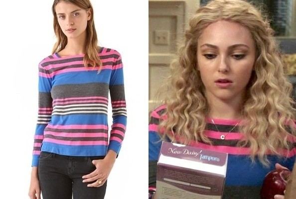 AnnaSophia Robb's Striped Sweater on 'The Carrie Diaries'
