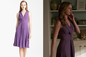 Emily VanCamp's Purple Draped Jersey Dress on 'Revenge'