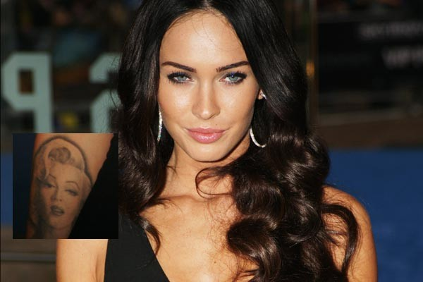 megan fox tattoos marilyn. Megan Fox