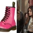 Lucy Hale's Pink Patent-Leather Combat Boots on 'Pretty Little Liars'