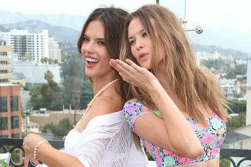 Alessandra and Behati Get Their Swimwear On