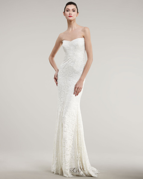 Nicole miller strapless lace bias gown 150 wedding dresses you can 150 wedding dresses you can buy online nicole miller junglespirit Choice Image