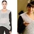 Lea Michele's Boucle Cowl-Neck Sweater on 'Glee'