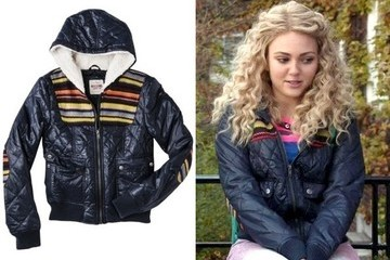 AnnaSophia Robb's Quilted Jacket on 'The Carrie Diaries'