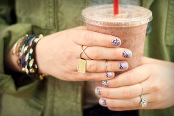 A Honey Berry Smoothie and the Honey Drop Manicure