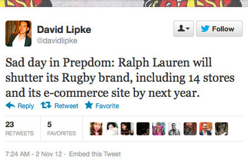 Rugby Ralph Lauren Is Shutting Its Doors