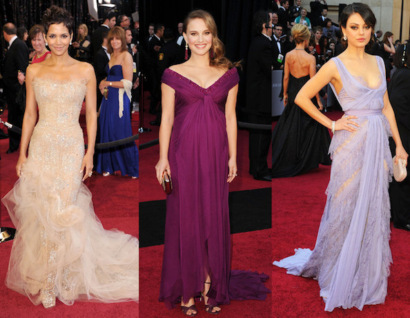 Odette Yustman Wears Monique Lhuillier to the Oscars 2011
