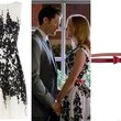 Jayma Mays' Black-and-White Dress on 'Glee'