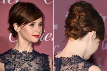 Hair Envy: Felicity Jones' Feminine Updo