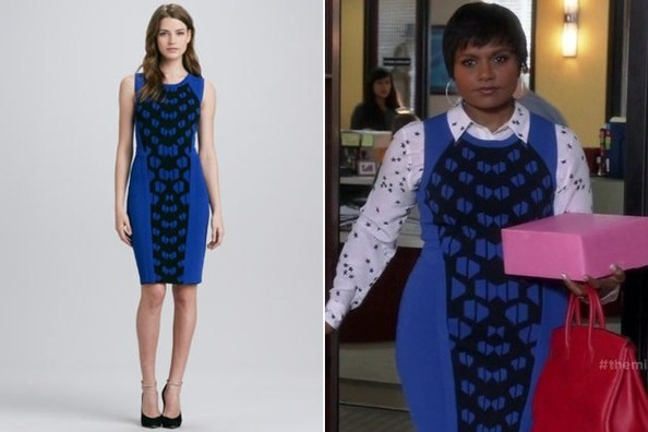 Mindy Kaling's Print-Panel Dress on 'The Mindy Project'