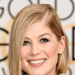 Rosamund Pike's Sleek Bob and Sultry Stare