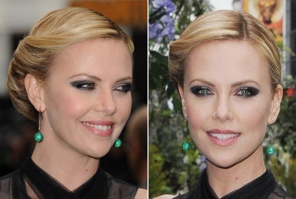 Charlize Theron's Victory Roll