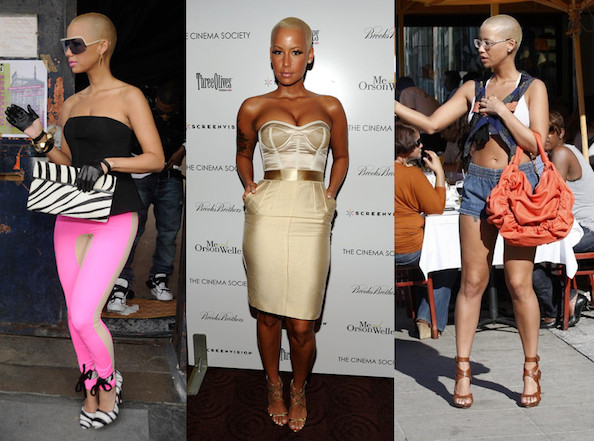 e56eb533d0 Amber Rose - Sizzling Celebrity Trend - Underwear as Outerwear ...