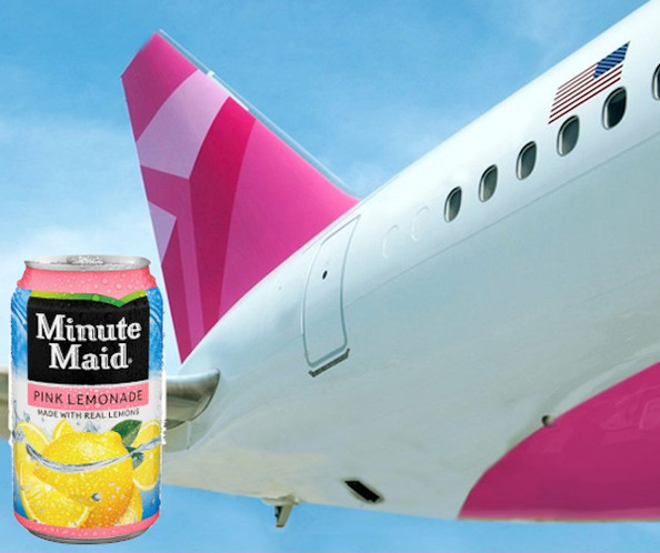 Delta Airline's Minute Maid Pink Lemonade