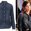 Jordana Brewster's Denim Shirt on 'Dallas'