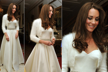 Kate Middleton Shows off Second Alexander McQueen Gown for Royal Wedding After-Party