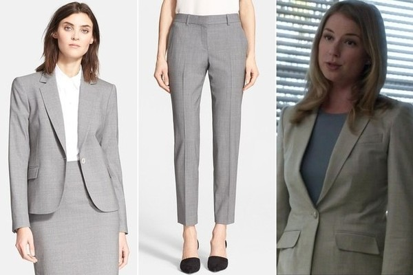 Emily VanCamp's Gray Pantsuit on 'Revenge'