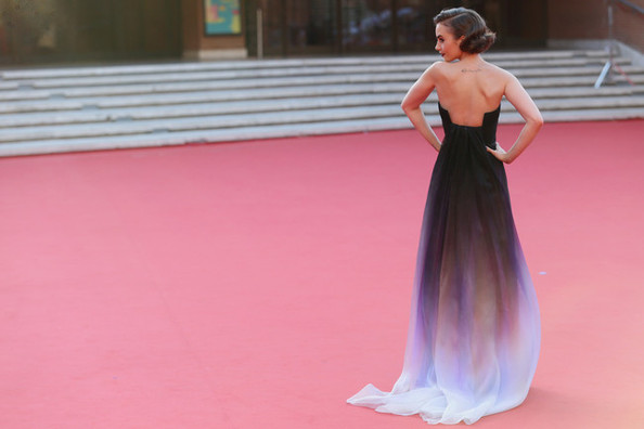 Lily Collin's Romantic Gown