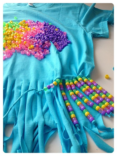 d40bf9b29c0a Continue beading - How to Customize a T-Shirt -  90s Summer Camp ...