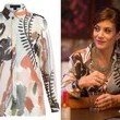 Kate Walsh's Watercolor Floral-Print Blouse on 'Bad Judge'