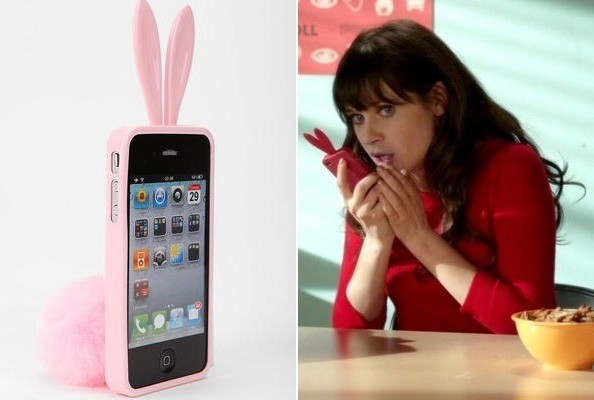 Zooey Deschanel's Bunny Rabbit-Ear iPhone Case