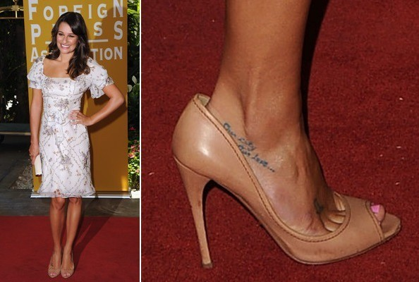 Lea Michele at the 2011 Hollywood Foreign Press Luncheon
