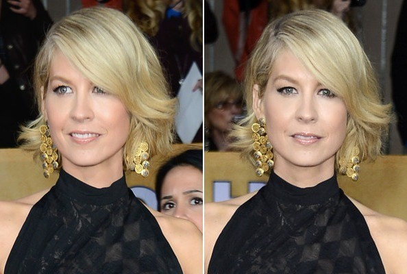 How to DIY Jenna Elfman's Swoopy Bangs—Even if You Don't Have Bangs!