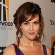 Sara Rue's Girly Side-Swept 'Do