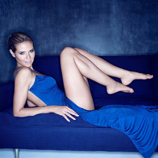 Heidi Klum Gets Royally Blue