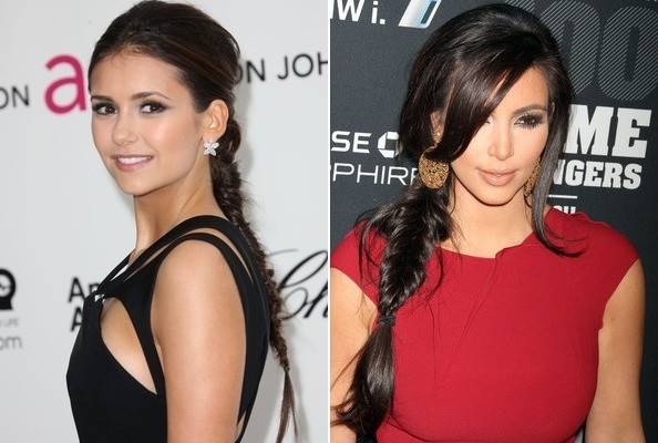 Nina Dobrev and Kim Kardashian