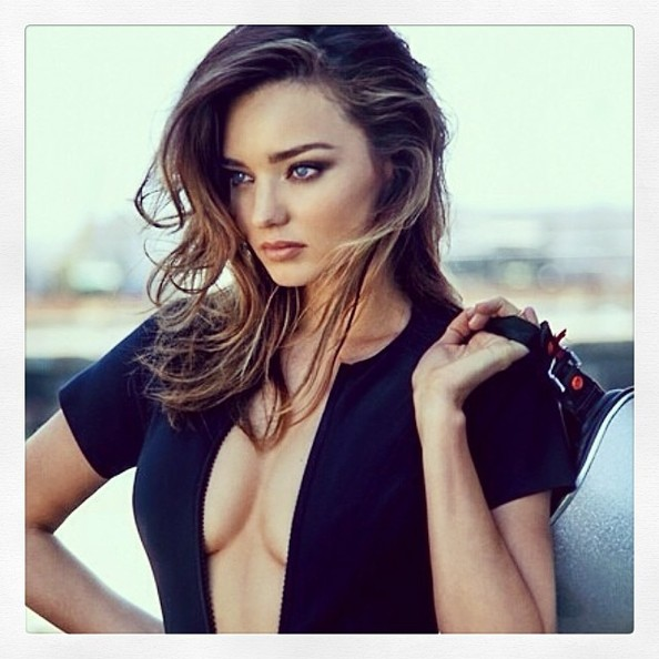 Miranda Kerr Is Fierce in a Zip-Up