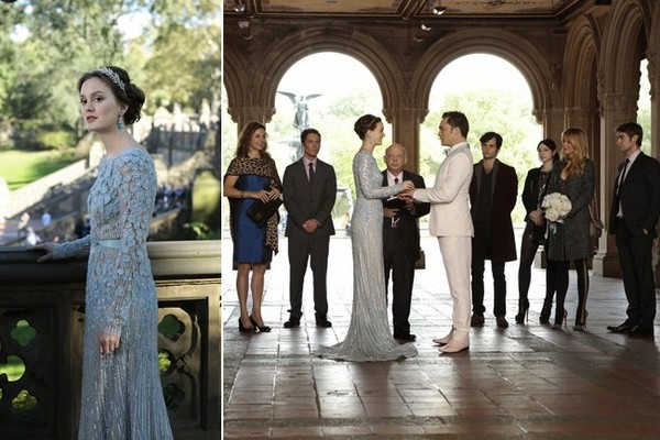 Blair Marries Chuck in Reem Acra in Central Park