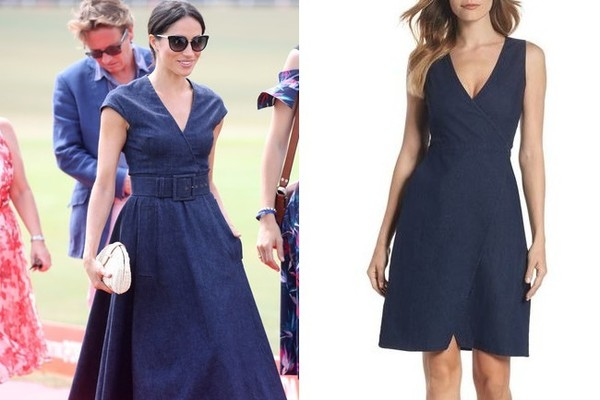 The Look: Denim Dress ($128)