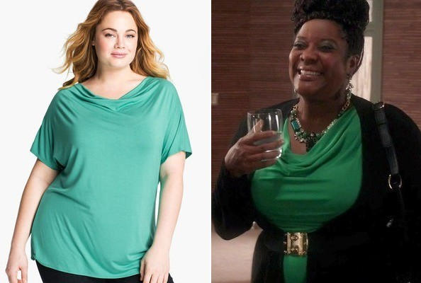 A Draped Green Top Like Loretta Devine's on 'The Client List'