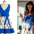 Zooey Deschanel's Doll-Print Dress
