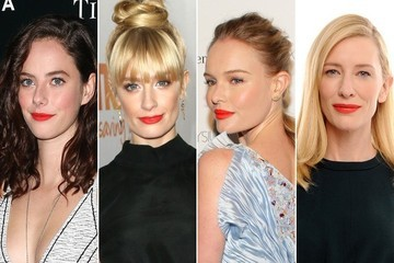 Celebrities Like Their Red Lipstick With a Tinge of Orange