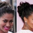 La La Anthony's Elegant Bobby-Pinned Updo